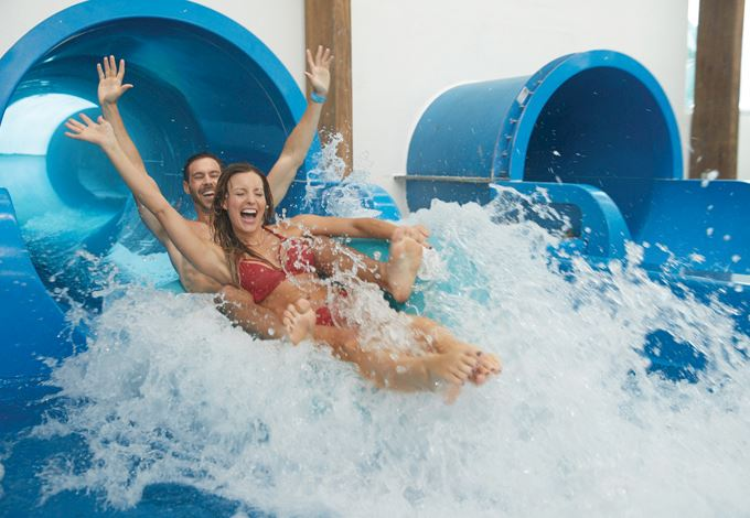 Couple on Water Slides at SoundWaves at Gaylord Opryland, Nashville